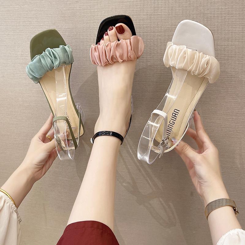 Sandals Fashion Womens Shoes 2021 Female Sandal Buckle Strap Block Heels Med Espadrilles Platform Luxury Girls Chunky High Gladiator Com
