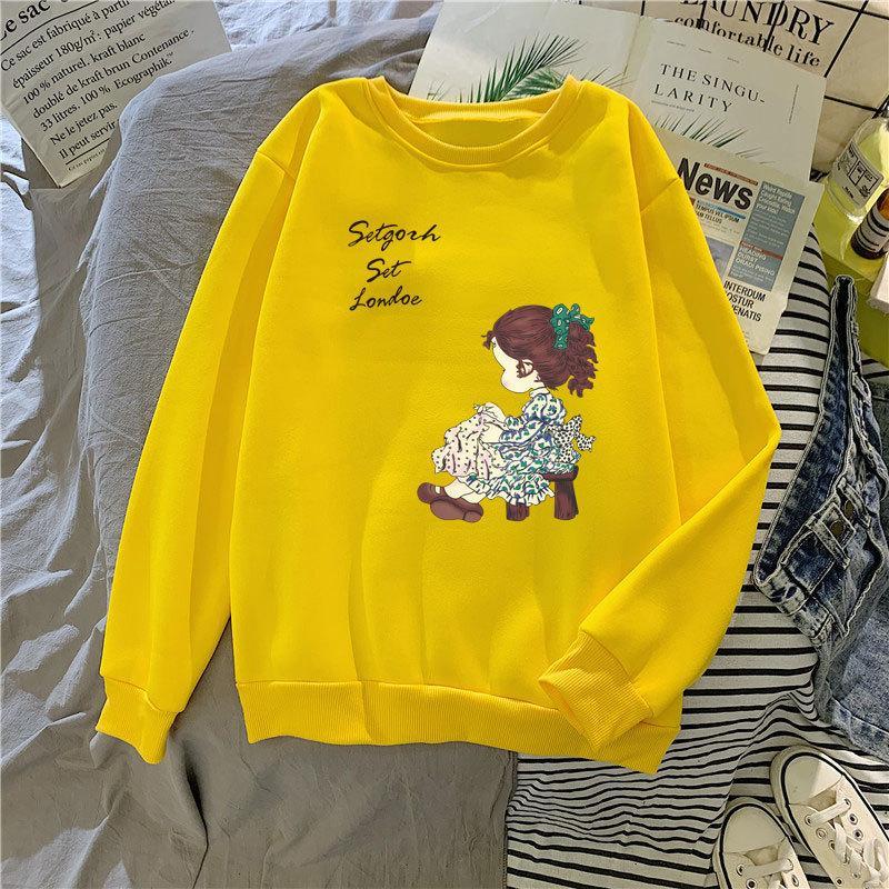 MS Fleece Cuello redondo Suéter de las mujeres Otoño e invierno Cashmere Cashmere Pullover Color Color Bottom Abrigo Fashion 2021 Flow Top