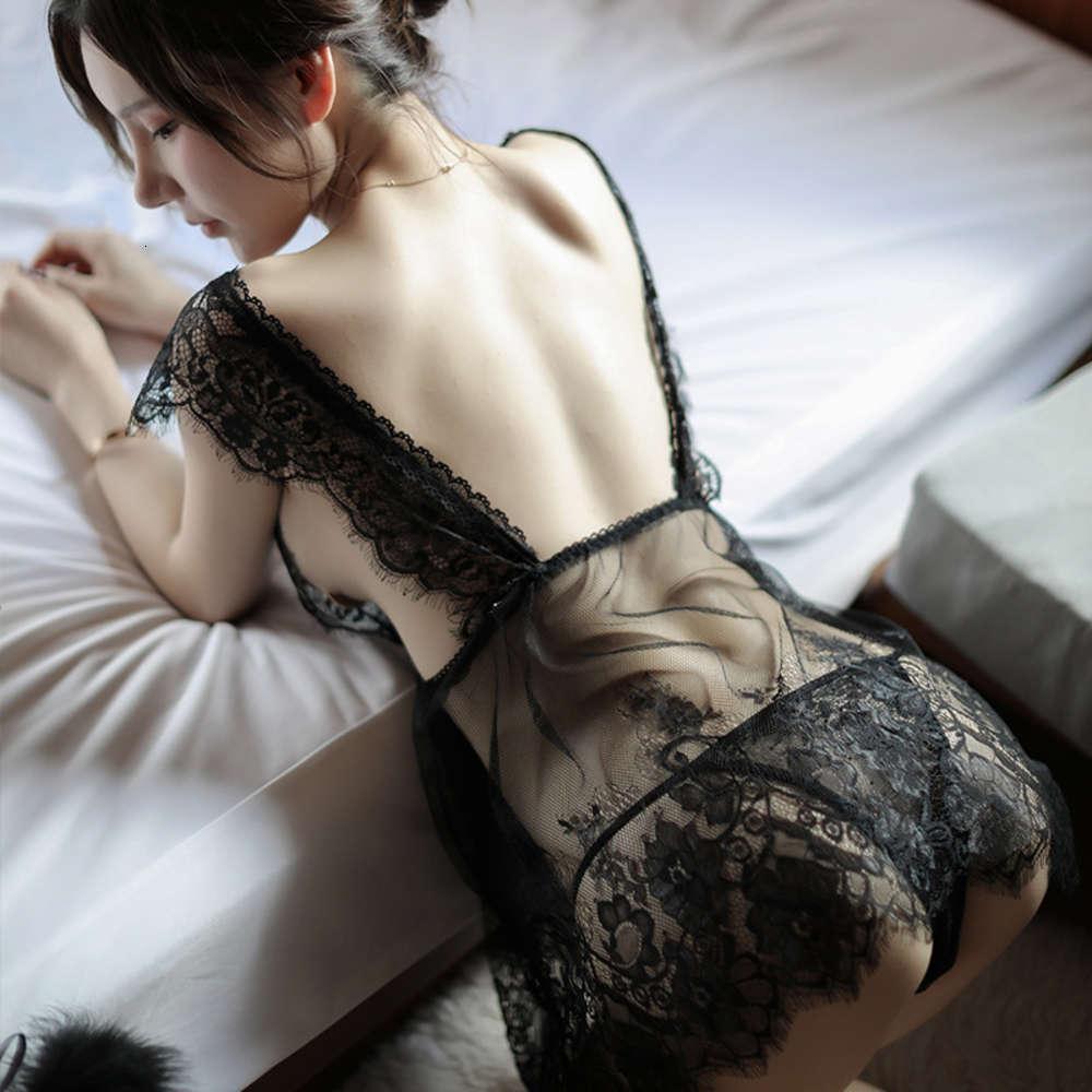 Сетевая сетка сетки черные ресницы кружева открытое нижнее белье грудь длинные женские ночная перспектива Pajamas 39 #