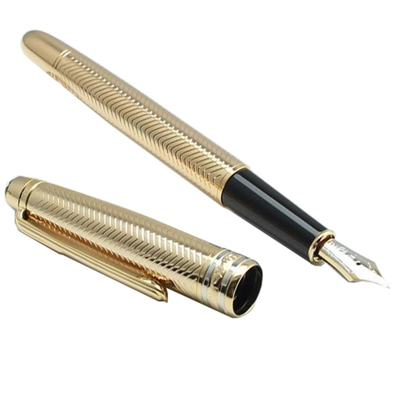 Lujo 163 Meistprice Gold Rollerball Pens Fountain Plan Papelería School Office Supplies String Ballpoint-Pen Top Regalos