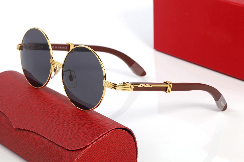 Sürüş Güneş Gözlüğü Klasik Marka Buffalo Boynuz Güneş Gözlükleri Tasarımcı Rahat Erkekler Ve Kadın Gözlükler Metal Ahşap Optik Çerçeve Gözlük Lunettes Gafas