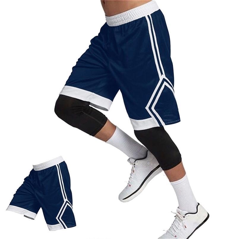 Hombres corriendo pantalones cortos de jogging gimnasio fitness entrenamiento rápido de secado playa pantalones cortos masculinos verano deportes entrenamiento de deporte fondos ropa 210729