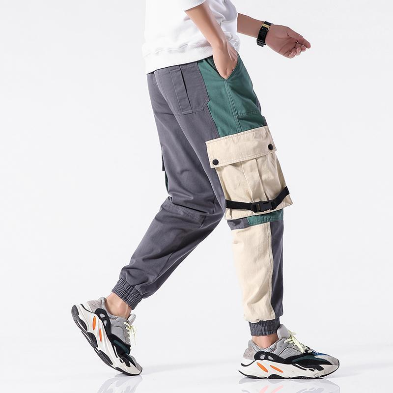 Coton multi-poches de style safari style mode fret pantalons hommes 2021 automne hip hop streetwear décontracté pantalon élastique hommes