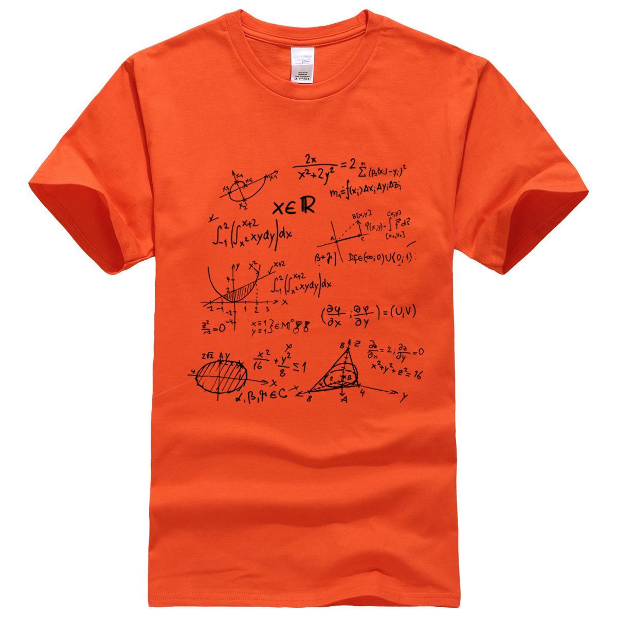 T-shirt 2019 Verão Matemática Fórmula Masculina T-Shirts A Teoria do Big Bang Camiseta Homens Marca-Roupas Top Tees Algodão