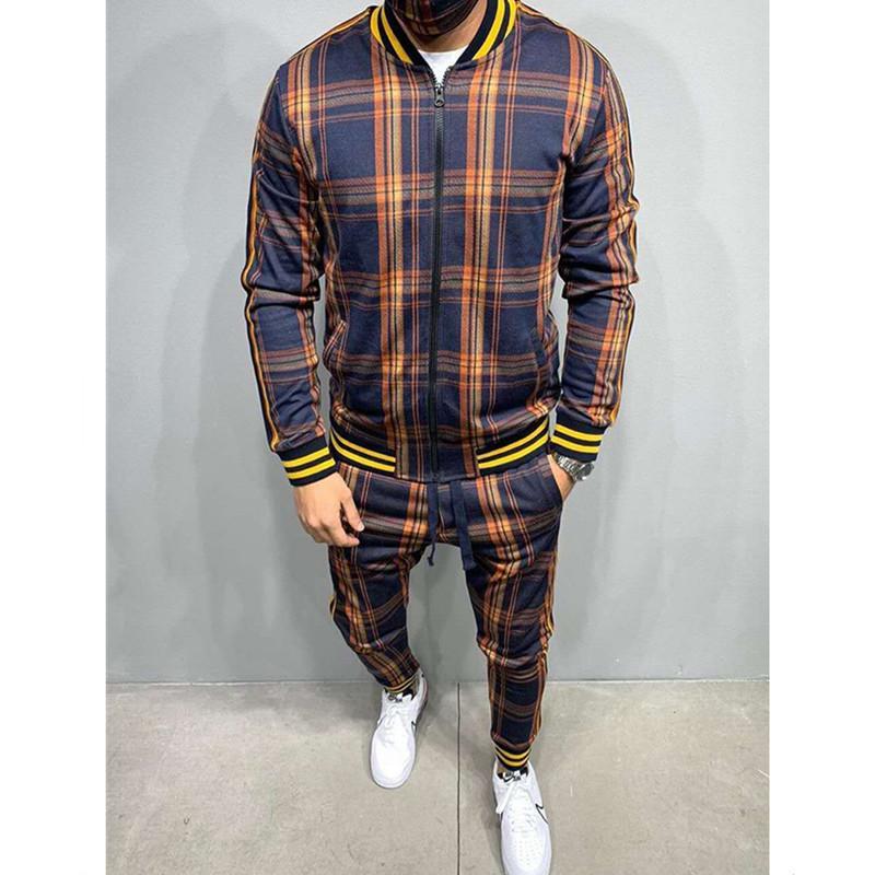 2021 Новый мужской костюм осень зимние кардиганские плещевые пальто спортивные мода повседневная одежда