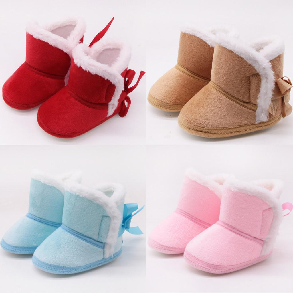 Boys Girls Snow Boots Baby Shoes Winter Warm Plush Inside Cow Muscle Sole Child Snow Boots Shoes For Baby Girls Boys Boots