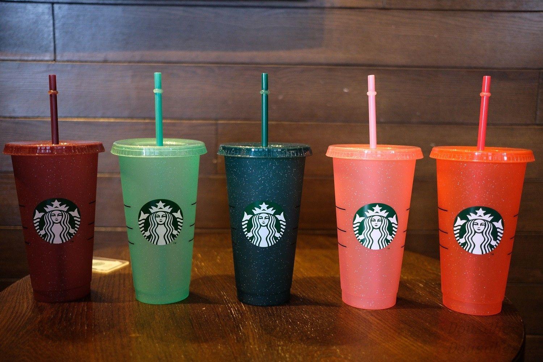 La sirena Starbucks Plástico Copa Flash Cup 24 oz / 710ml Color transparente Copa Copa Copa de plástico Jugo de bebida con labio Straw Magic Coffee Custom TAZ FREE DHL