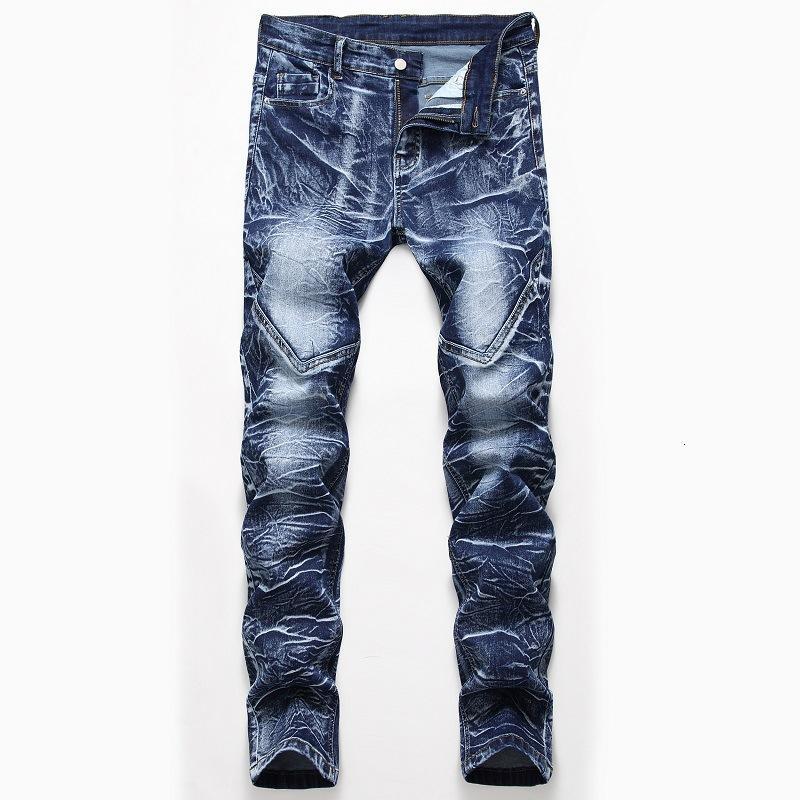 2021 estiramientos tricolor jeans lavado recto de hombres y pantalones blancos