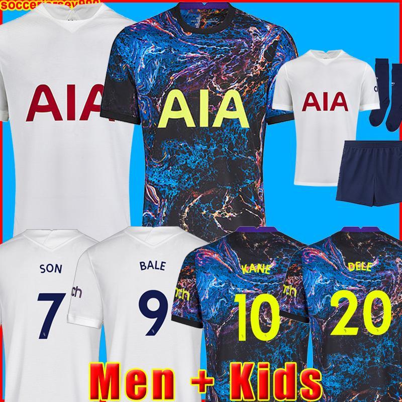 21 22 DELE SON BALE KANE كرة القدم جيرسي HOJBJERG BERGWIJN LO CELSO 2021 2022 LUCAS قمصان كرة القدم الزي الرسمي للرجال + طقم أطفال