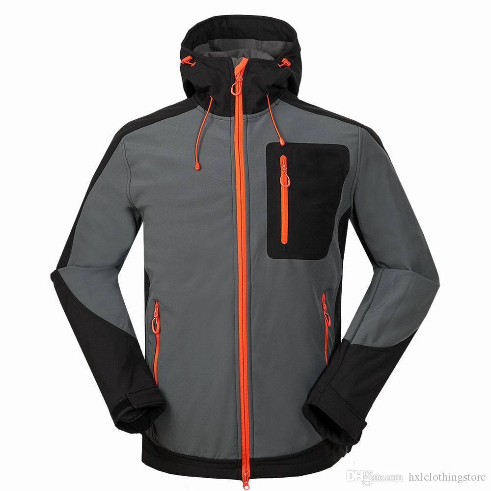 Weiche Schalenjacke der Männer im Freien winddichte Skijacken im Freien winddicht wasserdicht männlich Herbst Frühling Kleidung Reiten Klettermantel