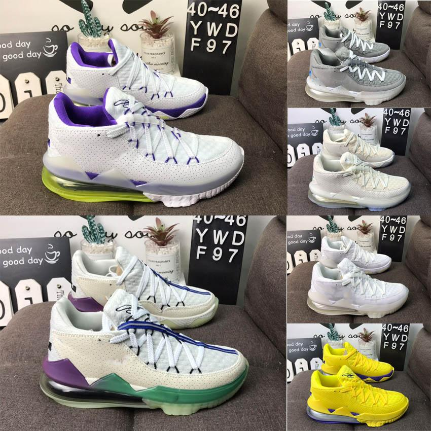 Son Varış Erkekler 17 XVII Düşük EP Basketbol Ayakkabı Erkek Açık Eğitmen Basketbol Çizmeler Spor Sneaker Boyutu EUR40-46 US7-12