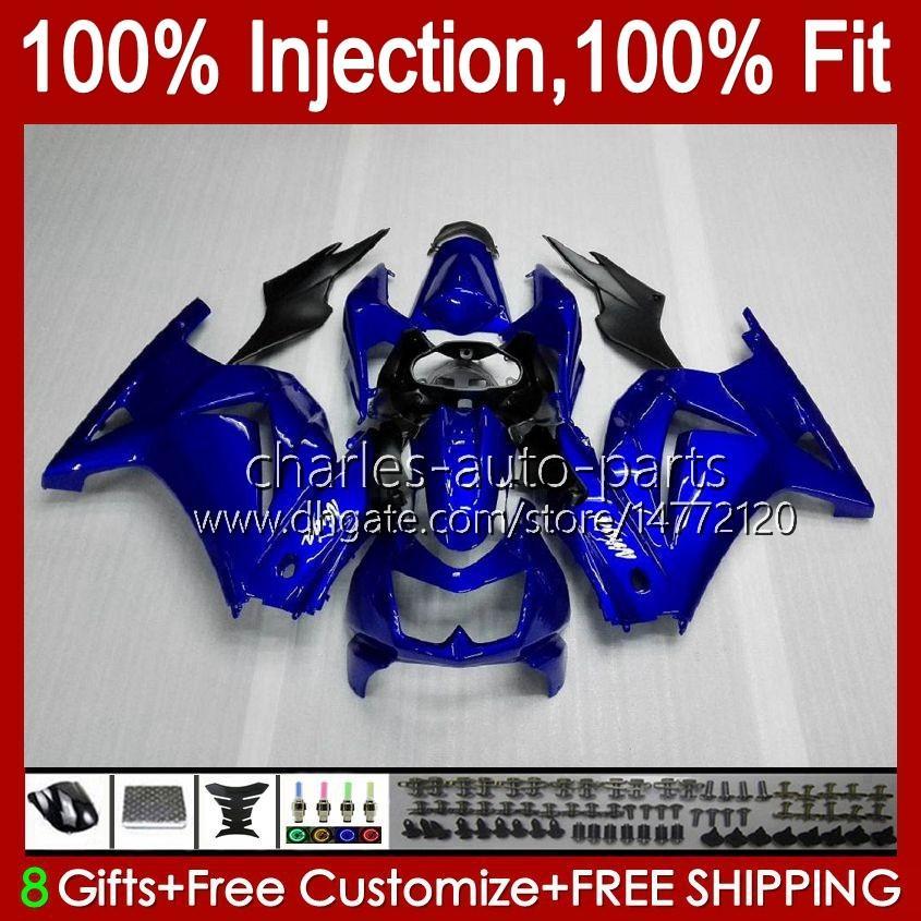 Kawasaki Ninja ZX250R 광택 블루 Ex250 2009 2009 2011 2012 13hc.16 EX250R ZX-250R ZX250 ZX 250R 08 09 10 11 12 Fairing