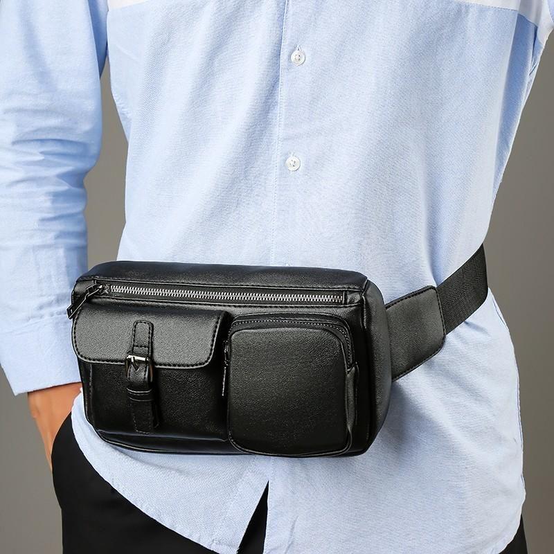 Laamei-Taille-Pack-Männer Casual funktionelle Brust Wasserdichte Tasche Gürtel Bum Männlich Telefon Geldbörse Taschen Bags Große Kapazität Fanny