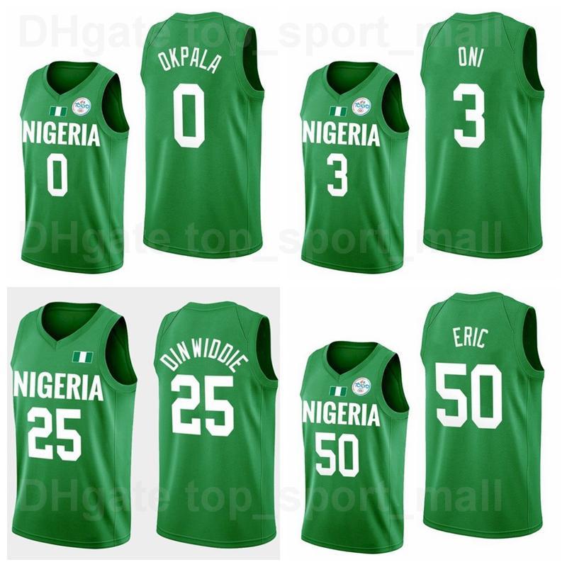 2021 طوكيو أولمبياد كرة السلة 25 سبنسر Dinwiddie جيرسي 3 Miye Oni 55 Achiuwa الثمين 0 Kz Okpala 50 Michael Eric 33 Nwora 7 Al-Farouq Aminu Team Green Ni Ri Li Li Ya