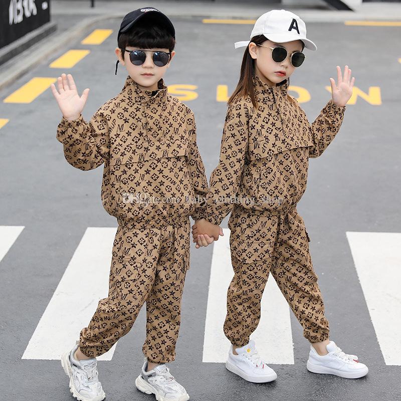 Mädchen Jungen Anzug Frühling Kleidung Kinder Weibliche Baby Mode Werkzeugtuch Jacke + Hosen Zweiteiler Anzug