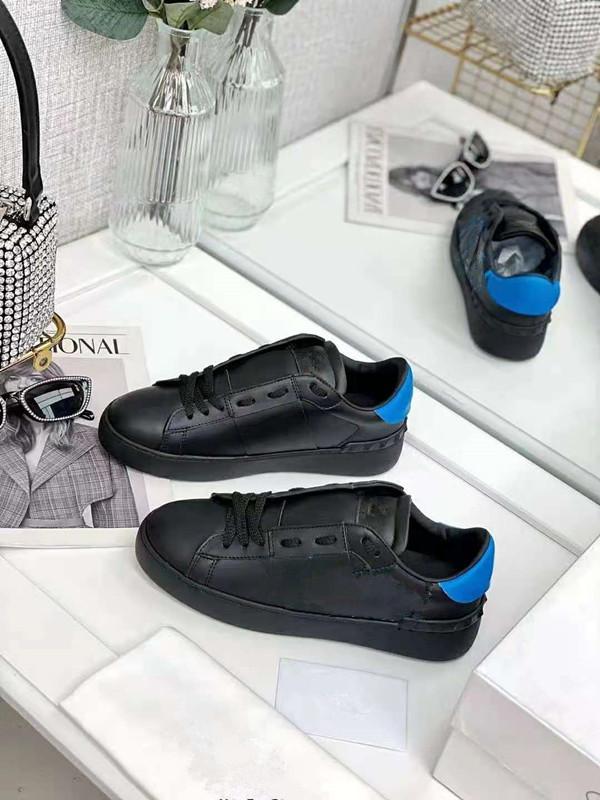 Erkek Bayan Tasarımcı Rahat Ayakkabılar Siyah Sneakers Erkekler Kadın Lace Up Flats Deri Kız Öğrenci Sneaker Loafer'lar ile Harfler Boyutu 35-44