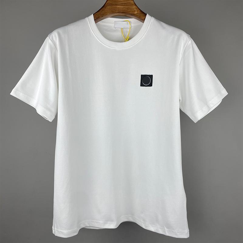 CP CHINACPCOMPANY 여름 코튼 크루 넥 남자 티셔츠 레저 야외 폴로 셔츠 수 놓은 편지 배지 연인 짧은 소매