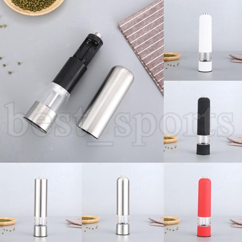 Moinhos de pimenta elétrica ABS Moinho de sal de sal de sal de sal Muller Muller Moedor Pepper Moedores Sem Baterias Ferramentas de Cozinha Cyz3158