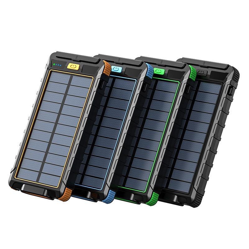 الطاقة الشمسية قوة البنك للماء 80000mAh شاحن الطاقة الشمسية منفذ USB شاحن خارجي ل فون لسامسونج الهاتف الذكي قوة البنك مع ضوء الصمام