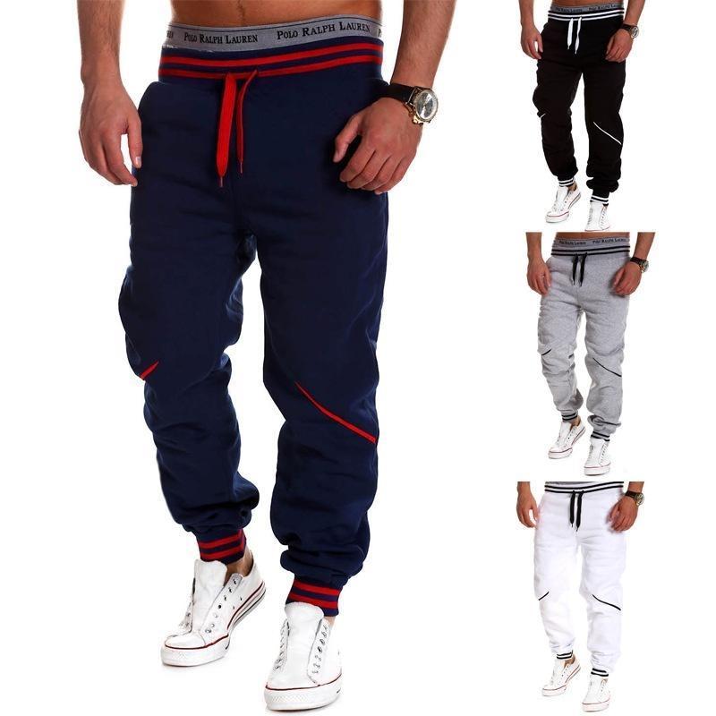 Erkekler Pantolon Hip Hop Harem Joggers Pantolon 2021 Yeni Erkek Pantolon Erkekler Joggers Katı Renk Ekleme Sweatpants M-3XL Sonbahar
