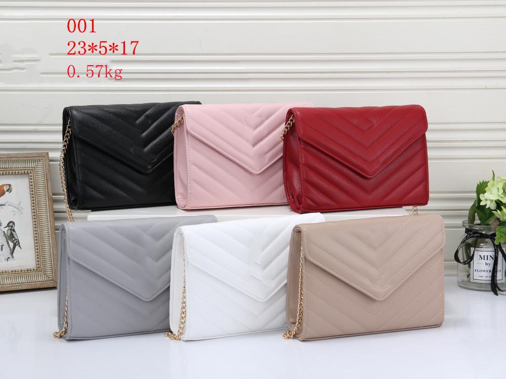 Nuevo bolso de la moda Damas diseñador bolsas compuestas de lady embrague hombro tote femenino monedero alto qulity PU cuero cadena de metal Messenger bolsa de billetera Avanzando