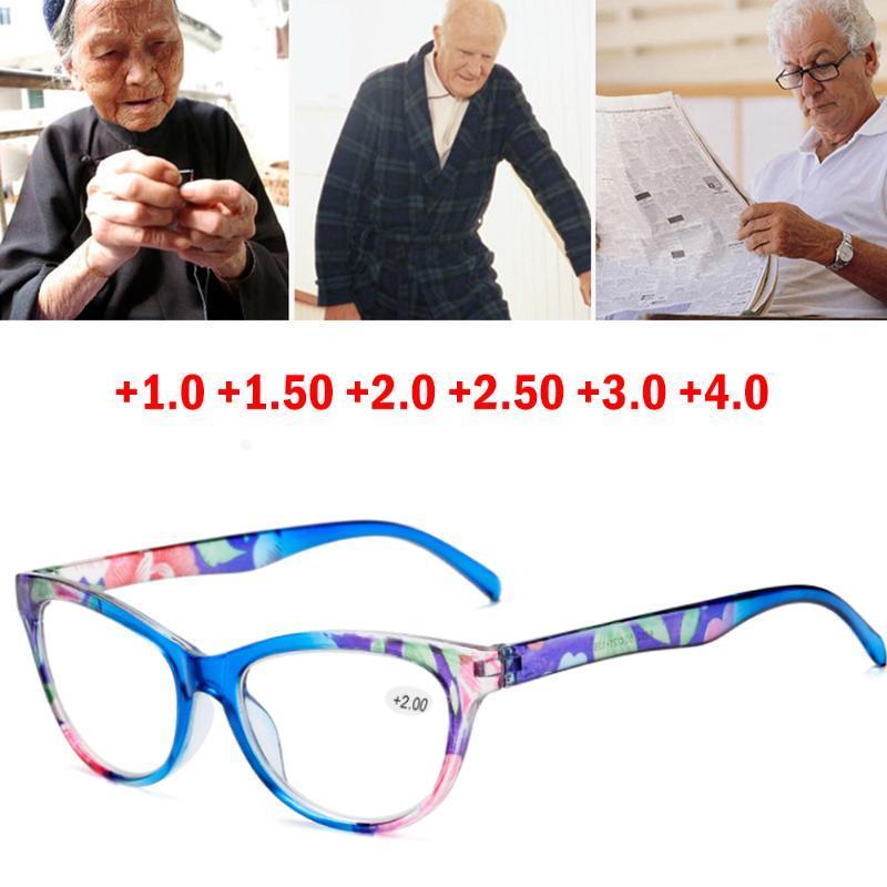 패션 빈티지 꽃 안경 프레임 여성 고양이 눈을 읽는 숙녀 장관 안경 처방전 보호 선글라스