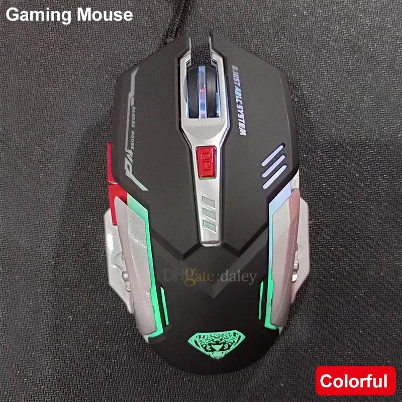 Mouse da gioco USB di fascia alta G402 Moponi meccanici cablati Ottico ergonomico ergonomico 4 regolabili 3200 DPI 6D Button LED Gamer per il gioco per computer portatile