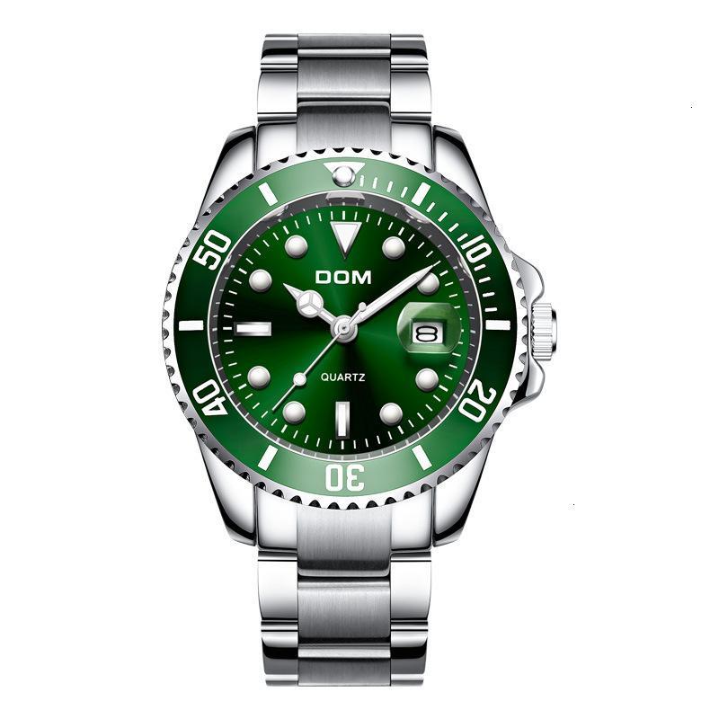 DOM fashion men's steel band high grade waterproof quartz watch