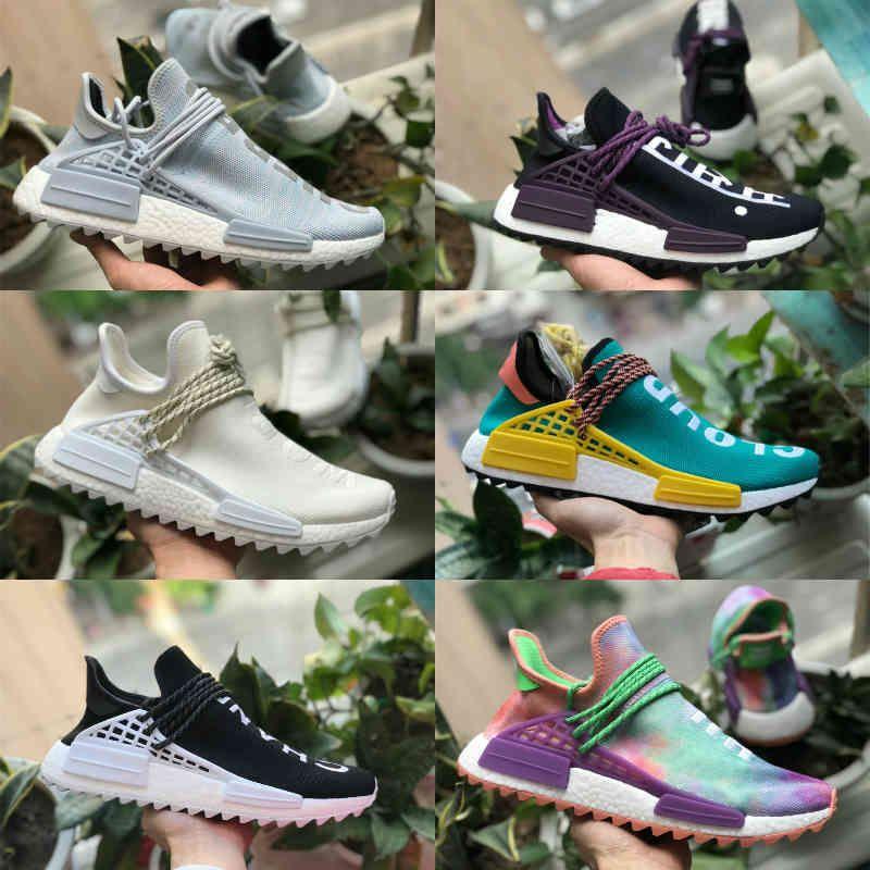 الجملة 2021 nmd سباق الإنسان pharrell ويليامز الرجال النساء تشغيل الرياضة مصمم الأحذية NMDS أسود أبيض primeknit عارضة تشغيل حذاء D25