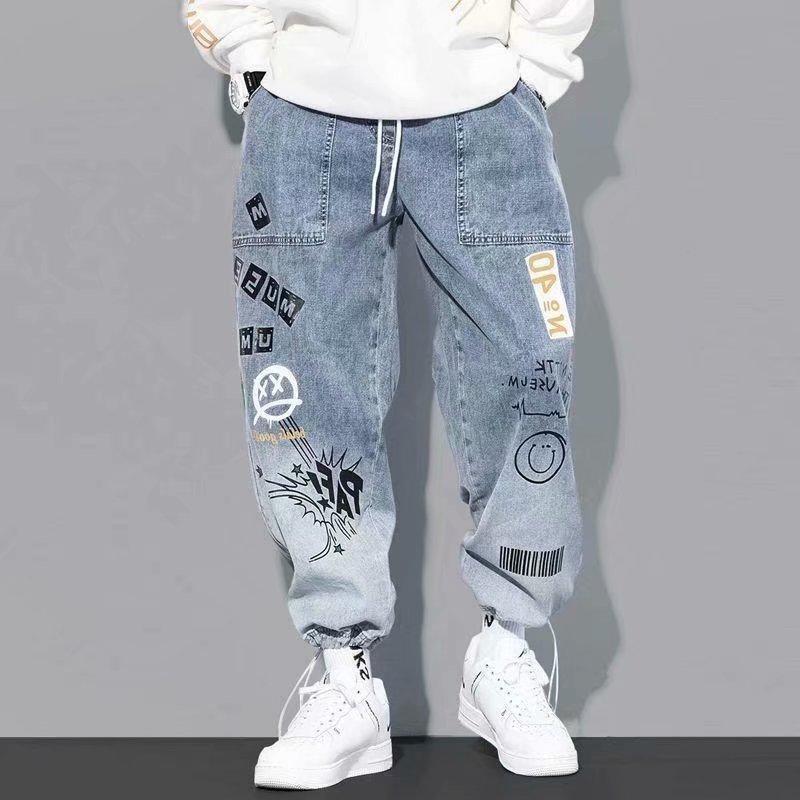 Erkek Pantolon Yüksek Kalite Moda Kargo Hip Hop Trend Streetwear Jogging Erkekler Rahat Elastik Bel Giyim Pantolon