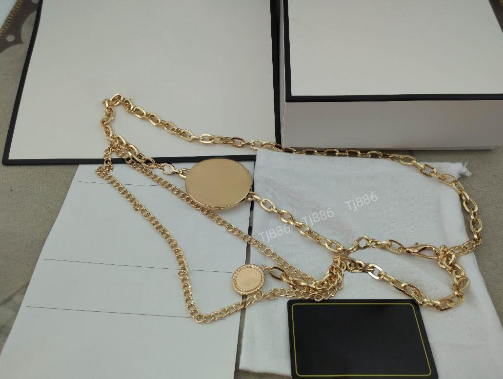 2021 Mulheres Cinto De Metal Retro Punk Franks Prateado Dress Gold Chain Peso 116G Adequado para cintura 77-92cm