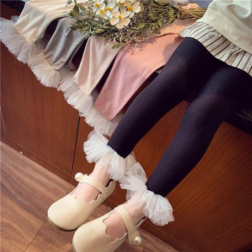 Leggings per bambini Pantaloni per bambini Ragazze Collant in pizzo Bambini Abbigliamento Abbigliamento da ballo Estate Pantaloni elastici per bambini Abbigliamento B6338