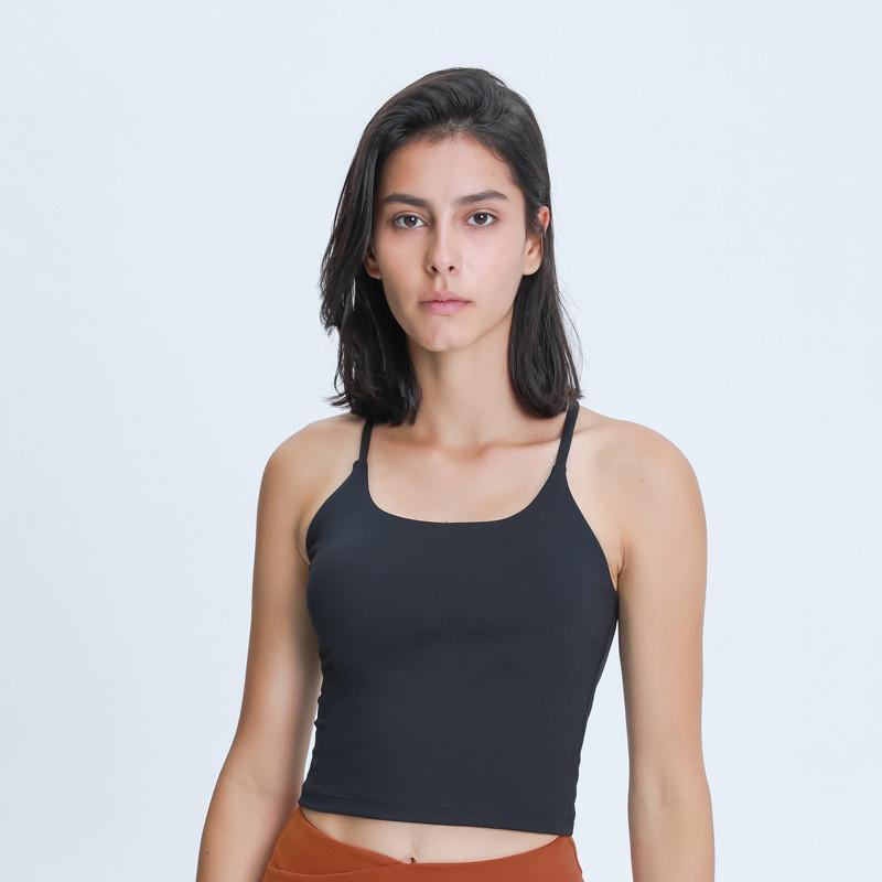 Roupas de Yoga Nepoagym Emotion Macio Macio Mulheres Workout Crop Tank Bras com Y Strappy Back Gym Gym Top Removível Padding