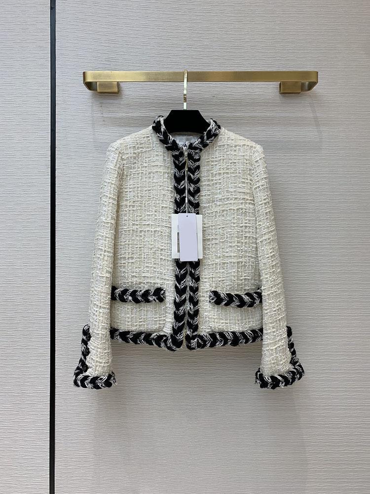Outono 2021Fw Primavera Mulheres Casuais de Alta Qualidade Casaco de Luxo Jaqueta de Onda Feminino Casaco Outerwear 2 ColortClai Mulheres Jaquetas