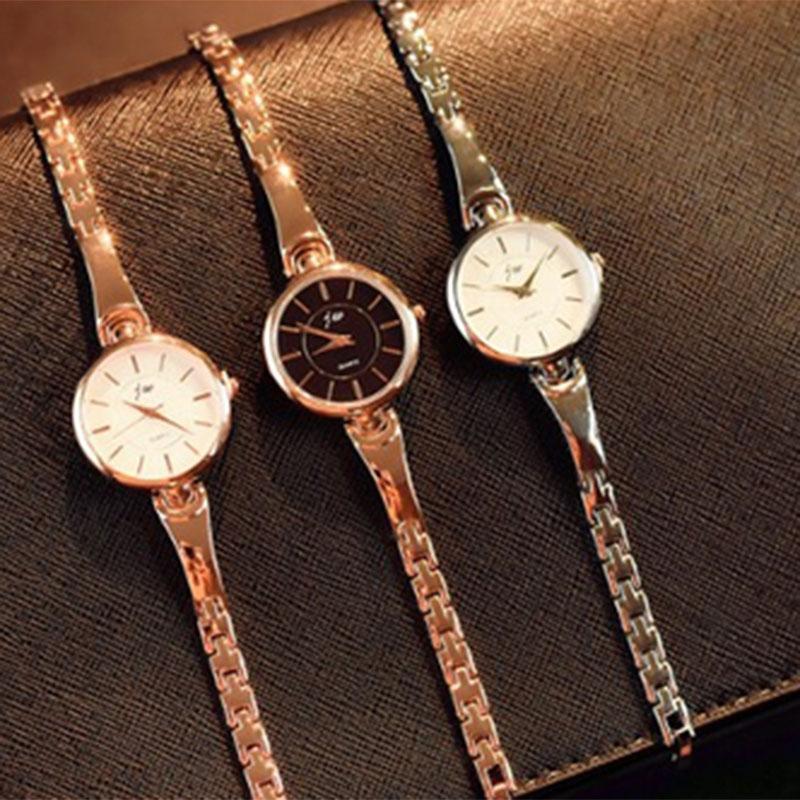 Wristwatches 1 Pcs Women Lady Student Wrist Quartz Watch Alloy Strap Round Dial Fashion For Business Party NIN668