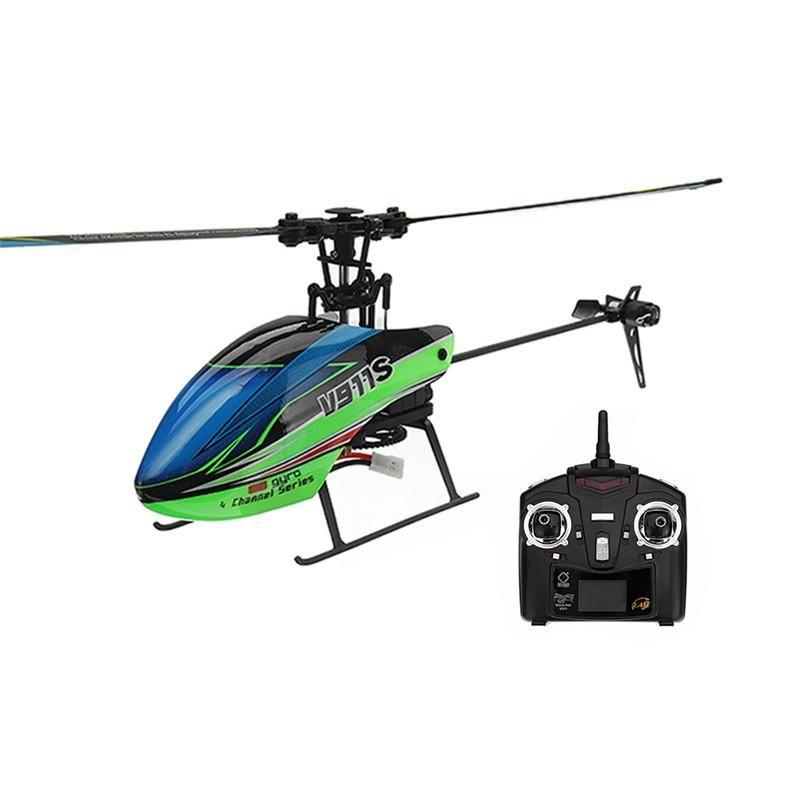 Wltoys V911S Helicóptero RC controlado a distancia con control remoto Cuatro canales Oar OAR Airronconales sin ejes Juguetes de giroscopio de seis ejes para niño