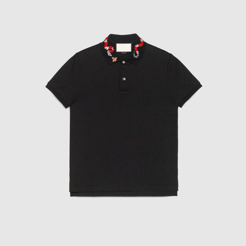 2021 Sommer Designer Luxus Kleidung für Mens Polo Klassische Stil Stickerei Biene Snake Hals T-shirt Casual Turn-Down-Kragen T-Shirt T-Shirts