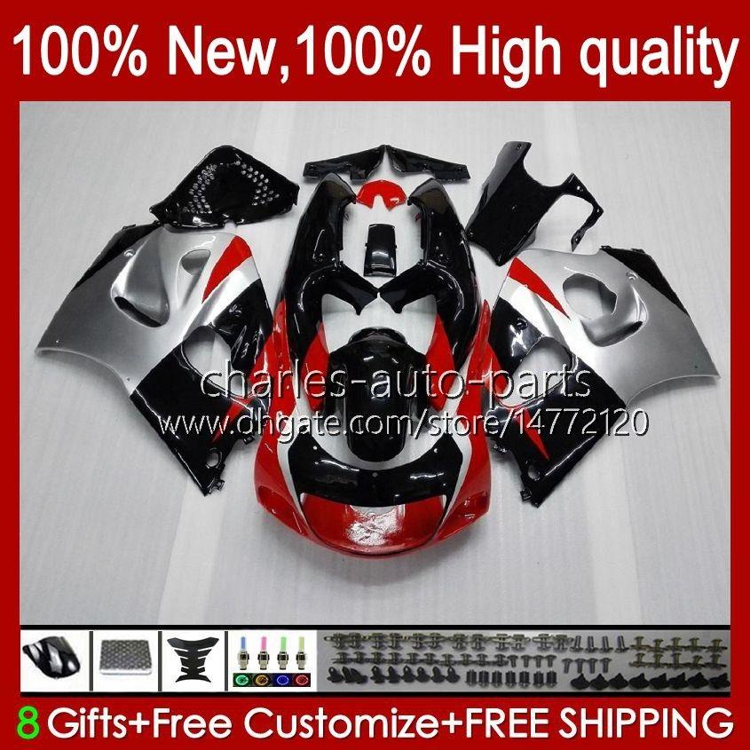 Karosseri kit för SUZUKI SRAD GSXR 600CC 750cc 750 600 CC 96-00 BODY 22NO.20 GSXR-750 GSXR600 1996 1997 1998 1999 2000 GSXR750 GSX-R600 96 97 98 99 00 Fairing Red Silveryy