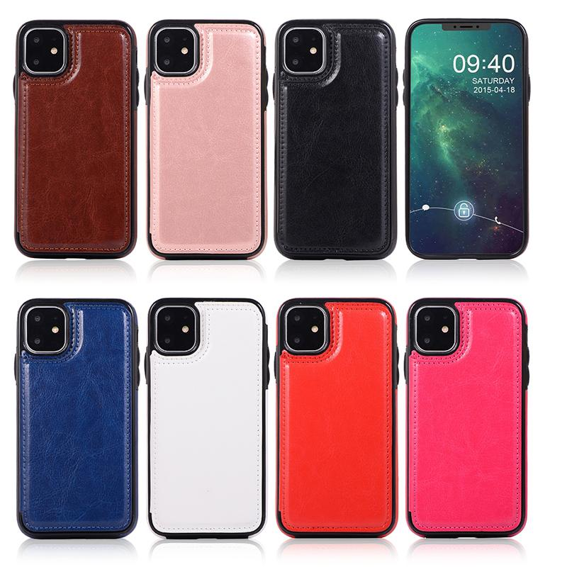 Luxury PU кожаный чехол для телефона для iPhone 12 11 Pro Max Mini X XS 7 8 плюс Samsung S20 кошелек чехол чехол для карт слотов