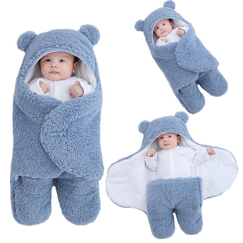 Soft Newborn Baby Wrap Blankets Baby Sleeping Bag Envelope For Newborn Sleepsa 100% Cotton thien Cocoon for baby 0-9 Months