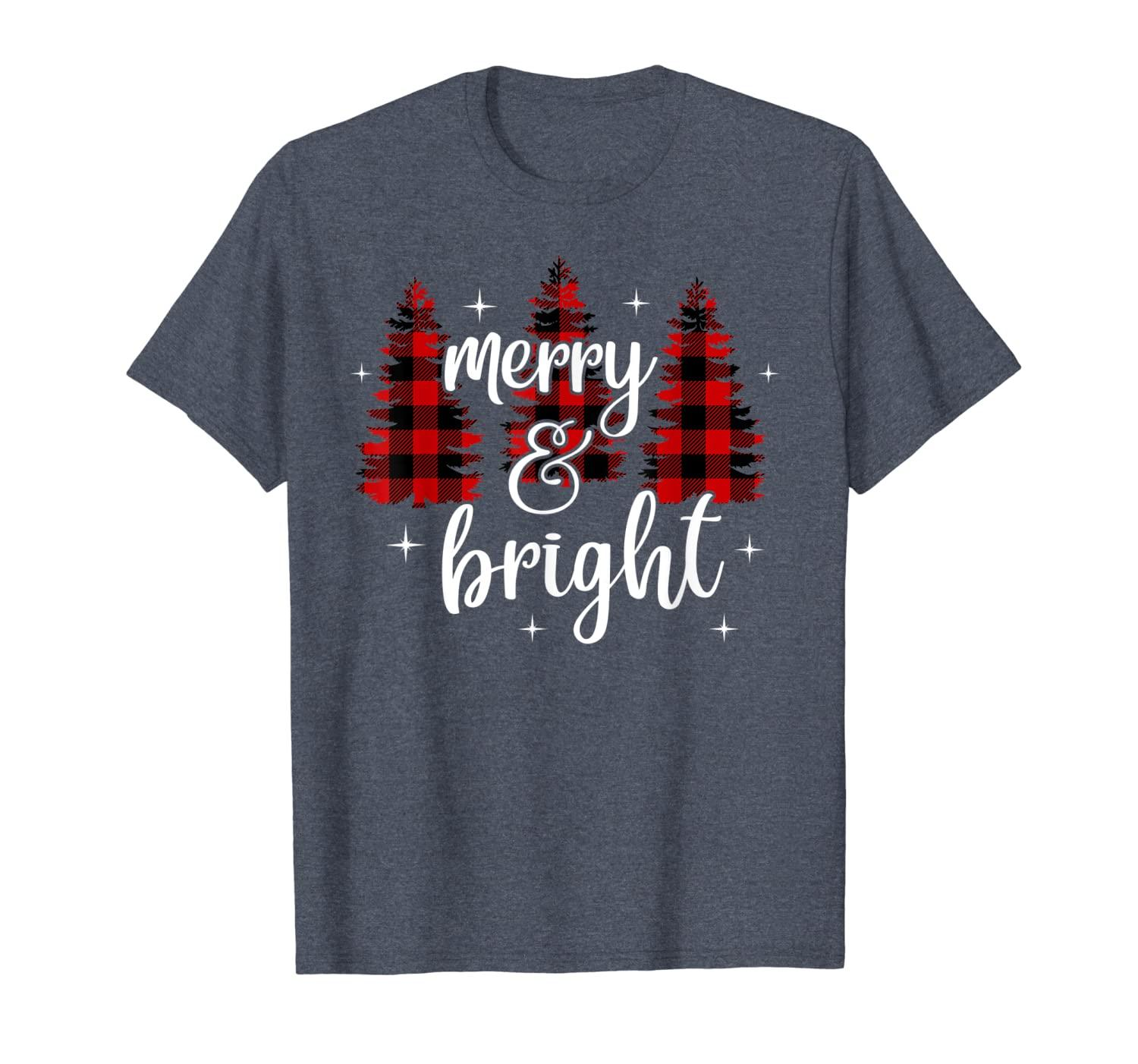 Merry and Bright, Matching Family Gifts, Xmas Trees T-Shirt