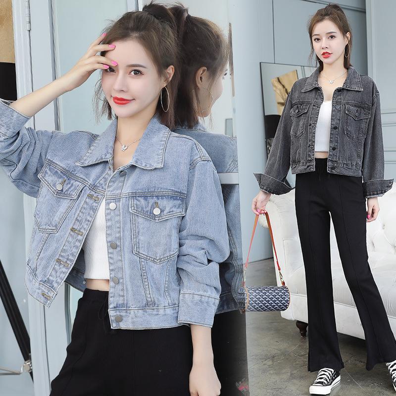 Chaqueta de silueta de la silueta del estudiante de la capa floja coreana de la moda de la moda gris en otoño 2021
