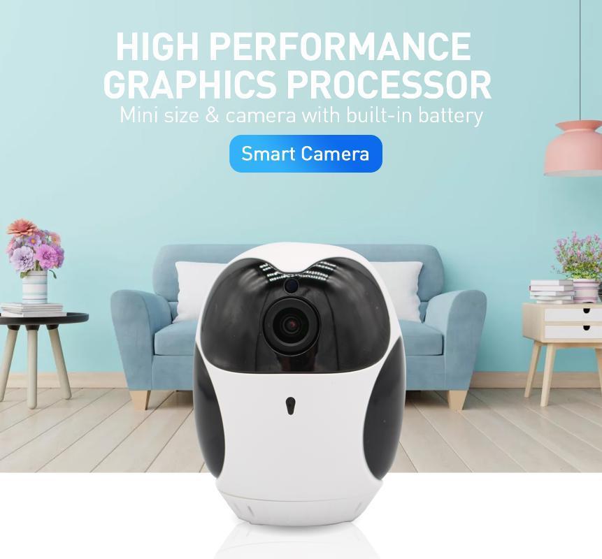 OUIA IP Cámara WiFi Inicio Monitoreo 360 ° Visión nocturna Infrarrojo Bebé Monitor interior lindo lindo mini cámaras de circuito cerrado