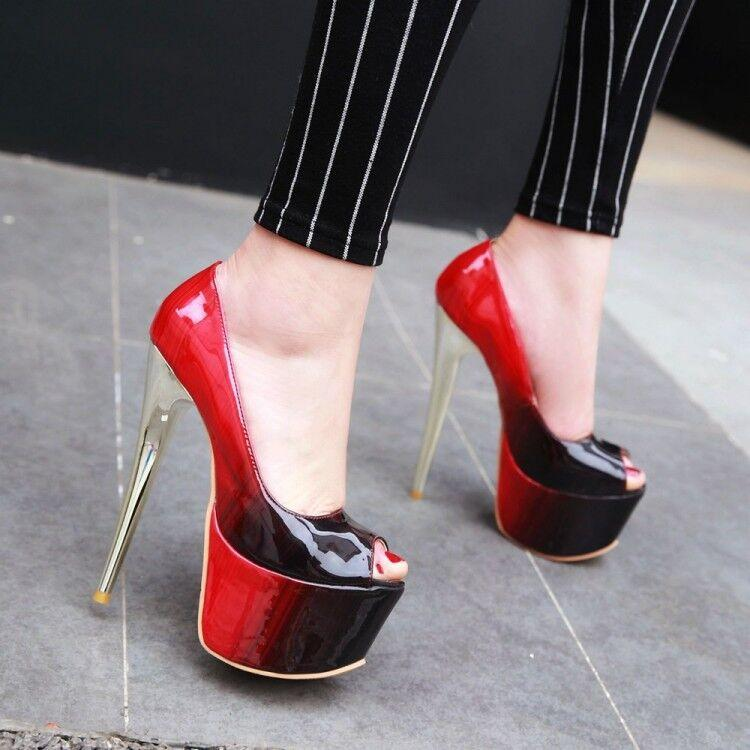 202 Sexy Shoes Women's Soft-Leather Tabletops Patchwork Colored High Heels with Round Toes Pink Party Quality