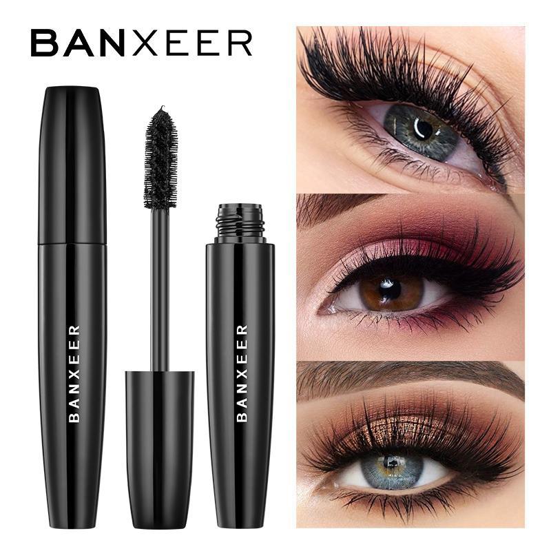 Yutong Banxeer Fluffy Volume Mascara Maquillage 4D Soie Fibre Soie Étanche Rimel 3D Extension épaisse longue curling Cils