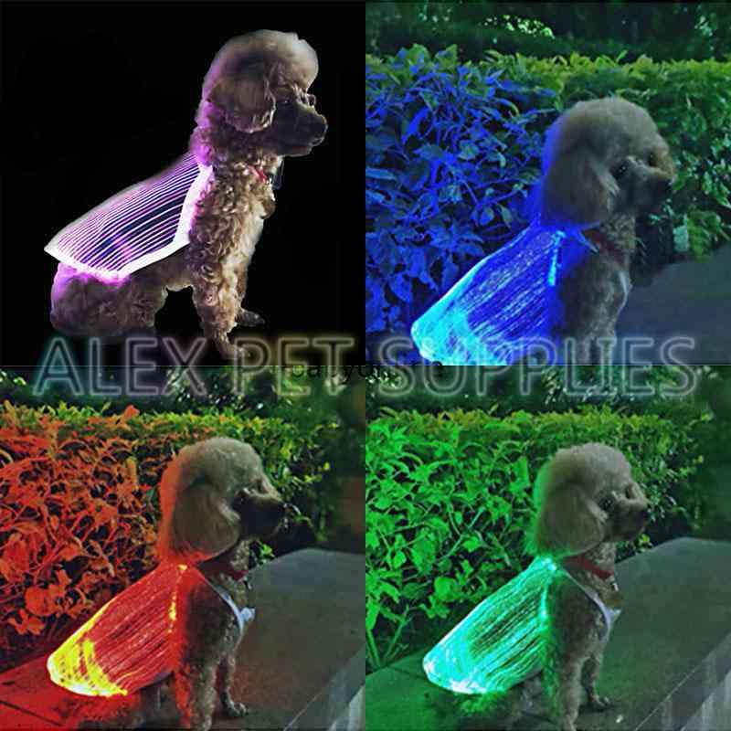Pet apparel LED luminescent Glowing Cat Dog vest USB Rechargeable Colorful Anti-lost Luminous anti-lost Various models Pet's Supplies