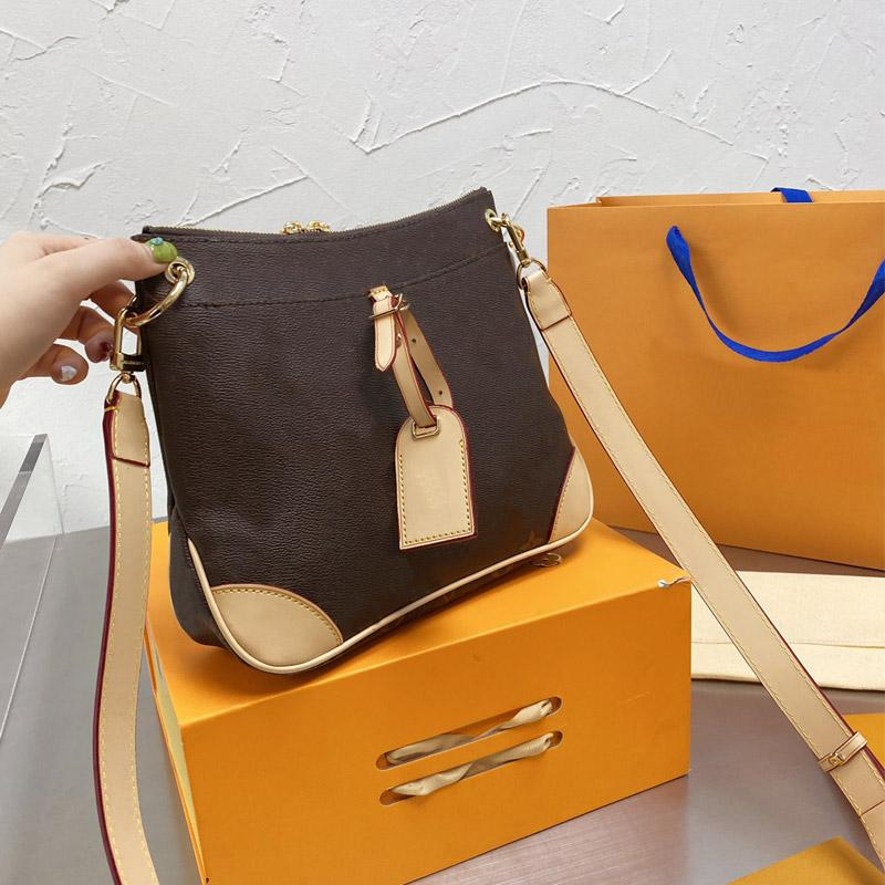 Fashion Messenger Bag Women Crossbody Bags Classic Letter Lady Handbag Zipper Purse Golden Hardware Tag Pendant Detchable Adjustable Shoulder Strap