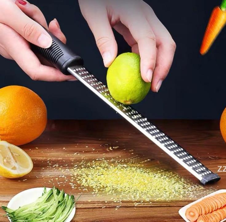 12 Inch Rectangle Stainless Steel Cheese Grater Tools Chocolate Lemon Zester Fruit Peeler Kitchen Gadgets HWF7555