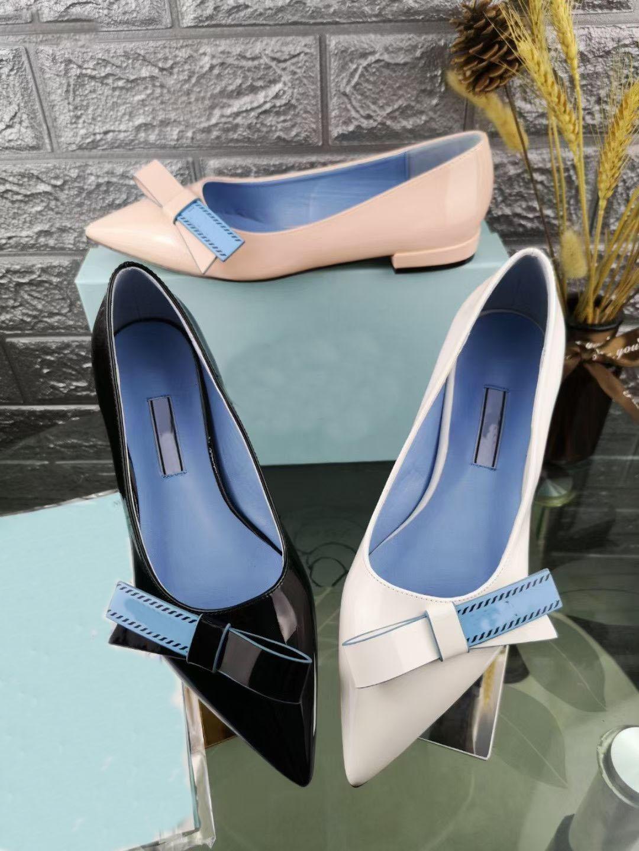 Fashion Beautiful Bow Burissimo Designer Donne Delle Donne D Donna blu Blu Nero Tacco Bianco 2CM Abito da sposa oversize 35-40