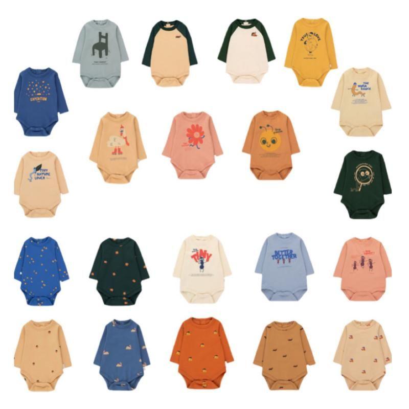 Jumpsuits TC Baby Romper Brand 2021 Boys Girls Long Sleeve Born Onesie Kids Designer Clothing Cartoon Cute One-piece Clothes